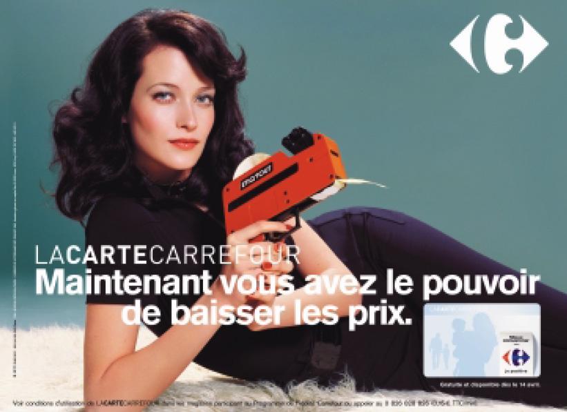 Carrefour préfère les brunes (dominatrices)