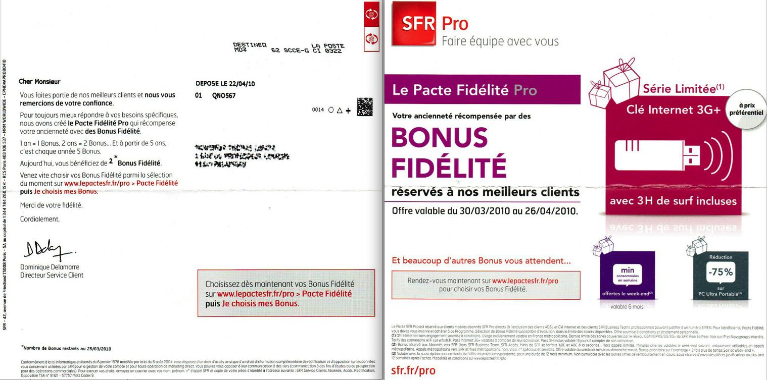 Relation-Client : le flop SFR