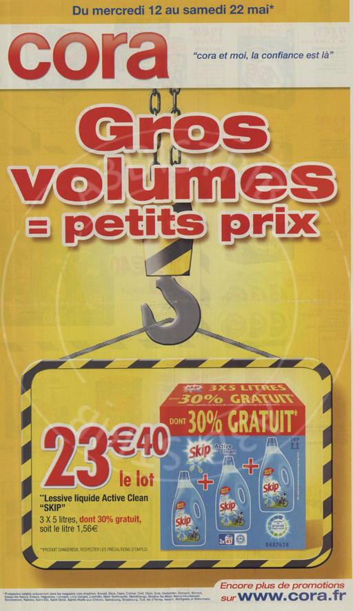 Gros Volumes Cora : c'est pas du baratin (1)
