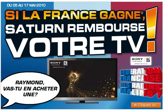 EXCLUSIF  Coupe du Monde :  Saturn tacle Carrefour !