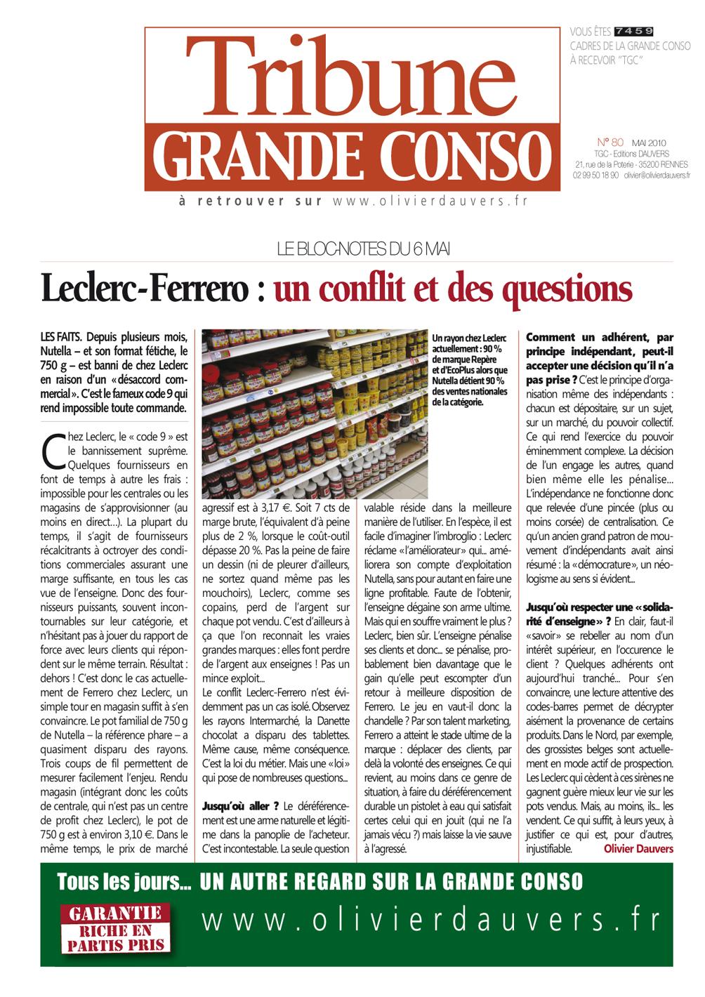 Leclerc-Ferrero : un conflit et des questions