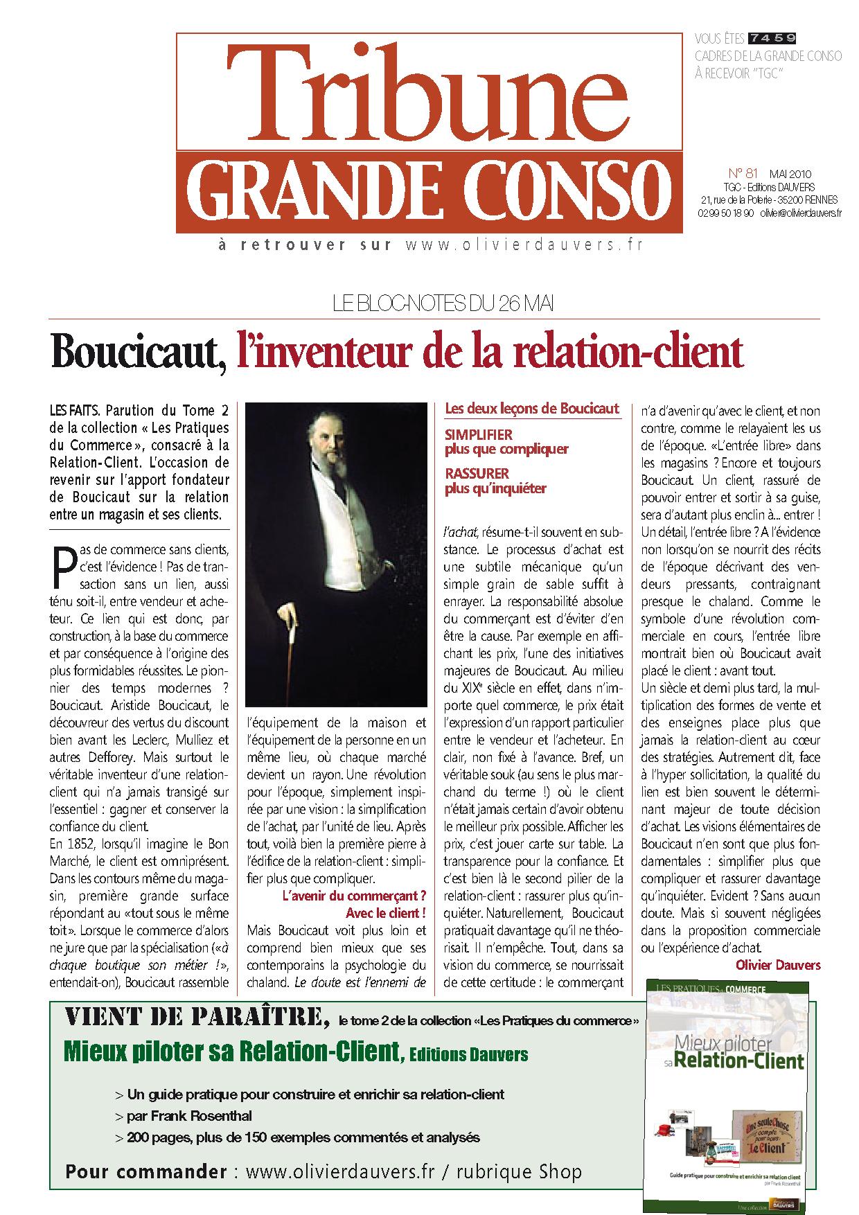 Boucicaut, l'inventeur de la relation-client