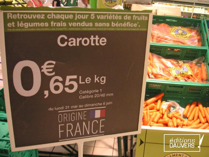 Carrefour renonce aux bénéfices…