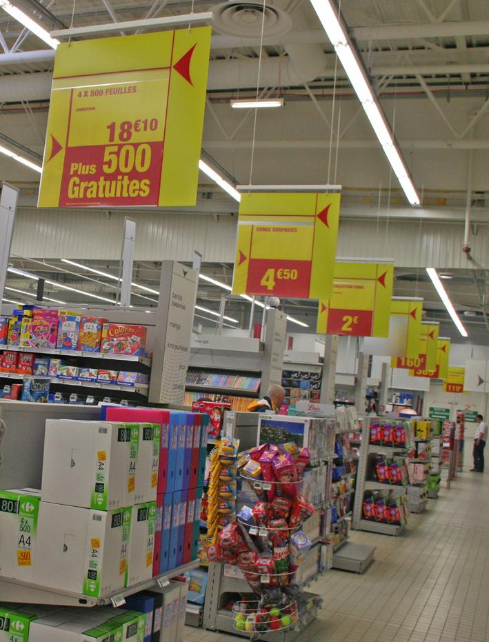 Les nouvelles TG de Carrefour, façon Auchan