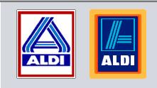 Du bon logo d'Aldi, la réponse