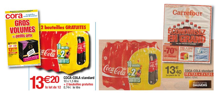 Coca : Cora se paye Carrefour