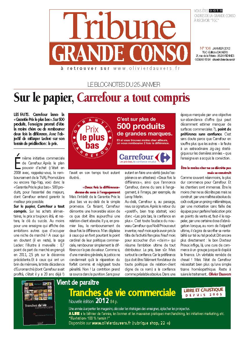 Sur le papier, Carrefour a tout compris