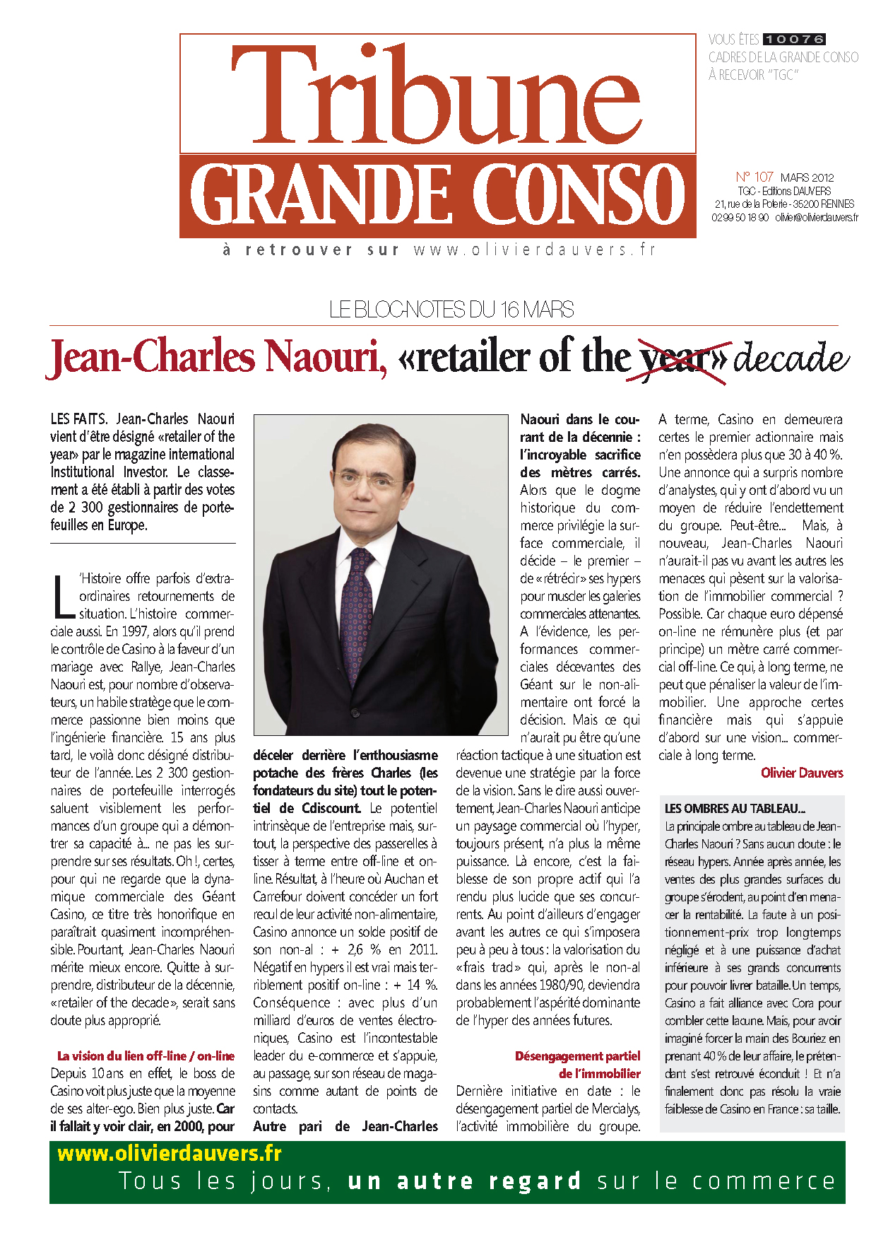 "Jean-Charles Naouri, ""retailer of the year"" (or the decade)"