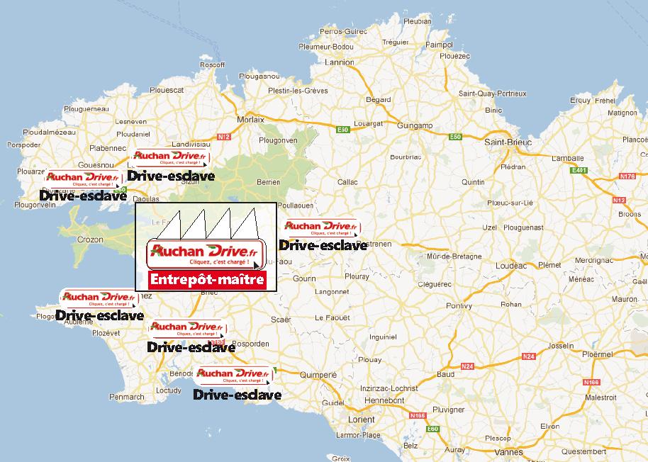 Drive-fiction : comment Auchan pourrait attaquer la Bretagne…