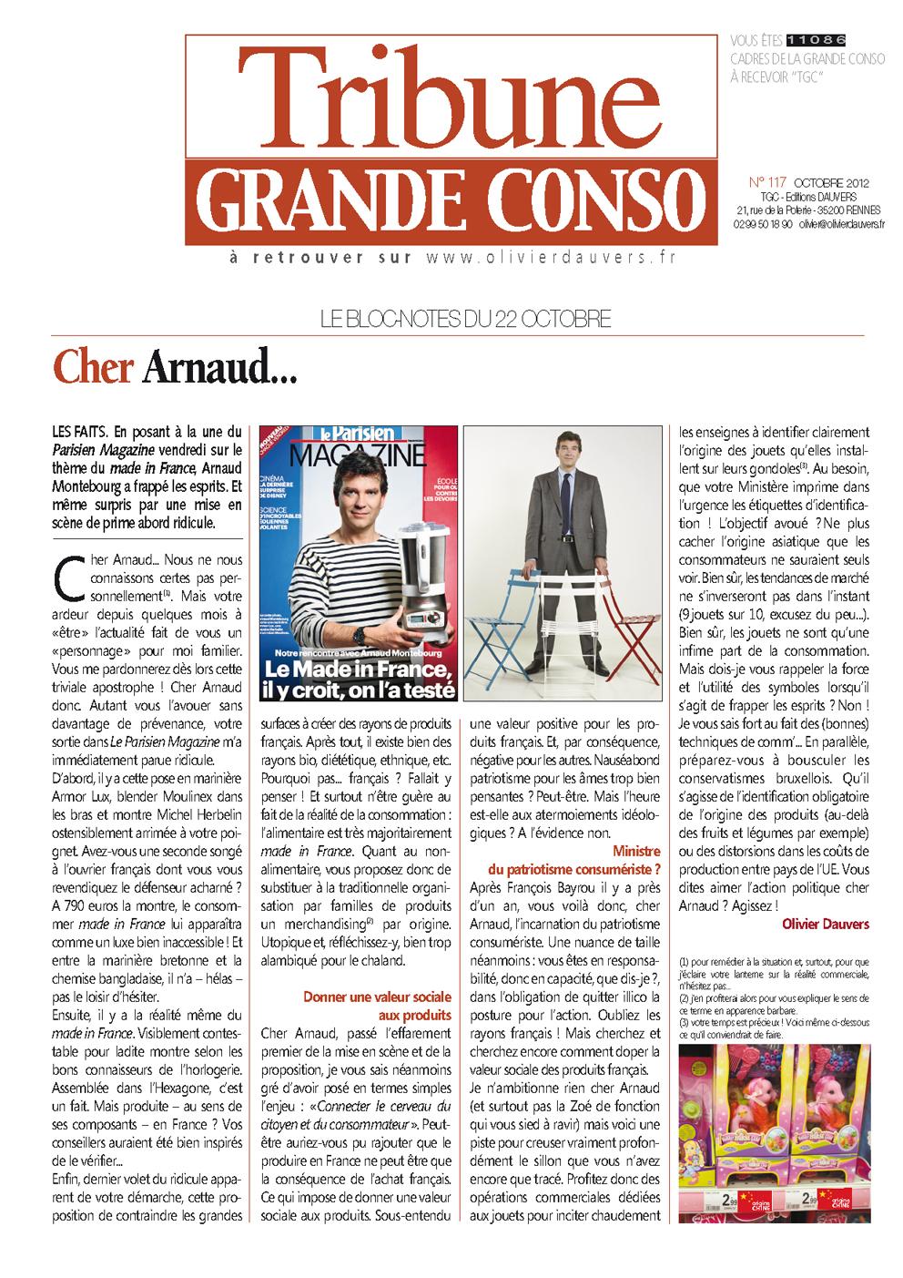 Cher Arnaud…