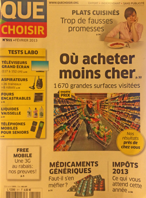 Revue de presse : Que Choisir, les prix, Rennes…