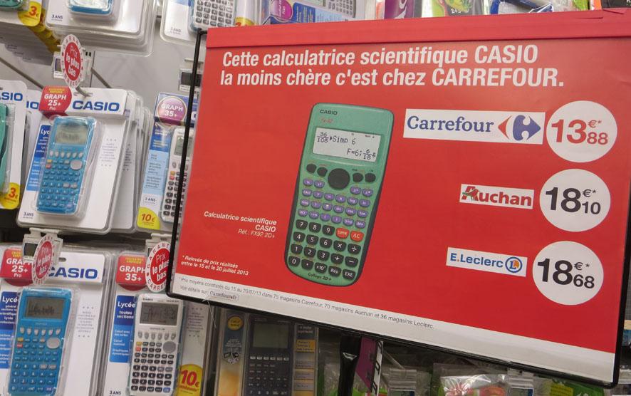 Comparaisons de prix : la ficelle (un peu grosse) de Carrefour