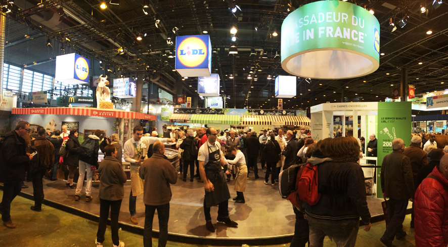 Lidl au salon de l 39 agriculture le on de comm 39 olivier for Salon agriculture paris 2015