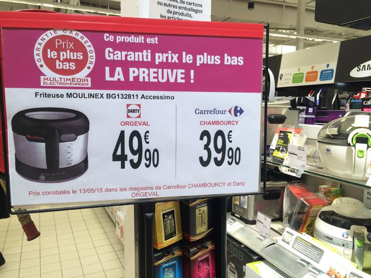 Pub comparative Carrefour Darty