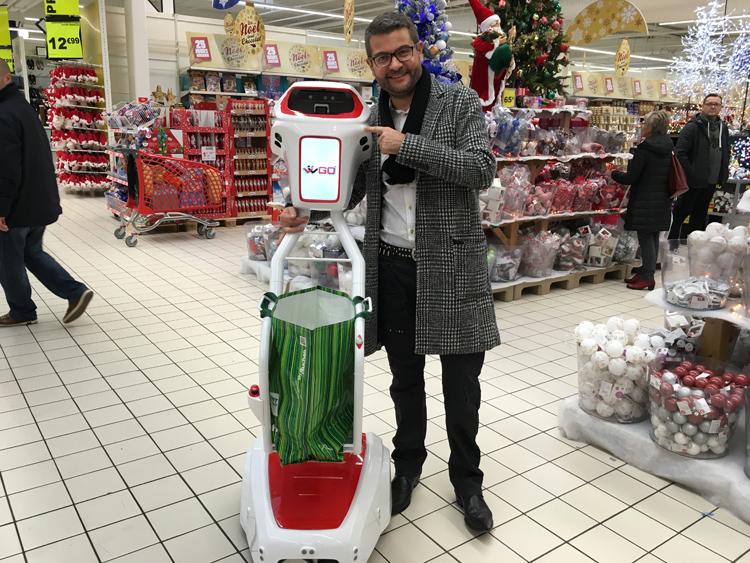 J ai test le robot wiigo chez auchan olivier dauvers - Chariot de course auchan ...
