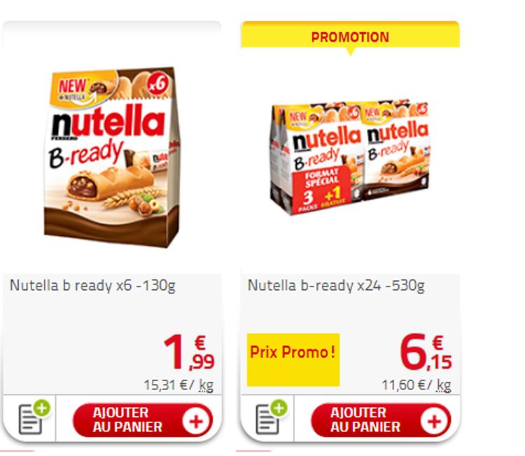 Auchan nutella