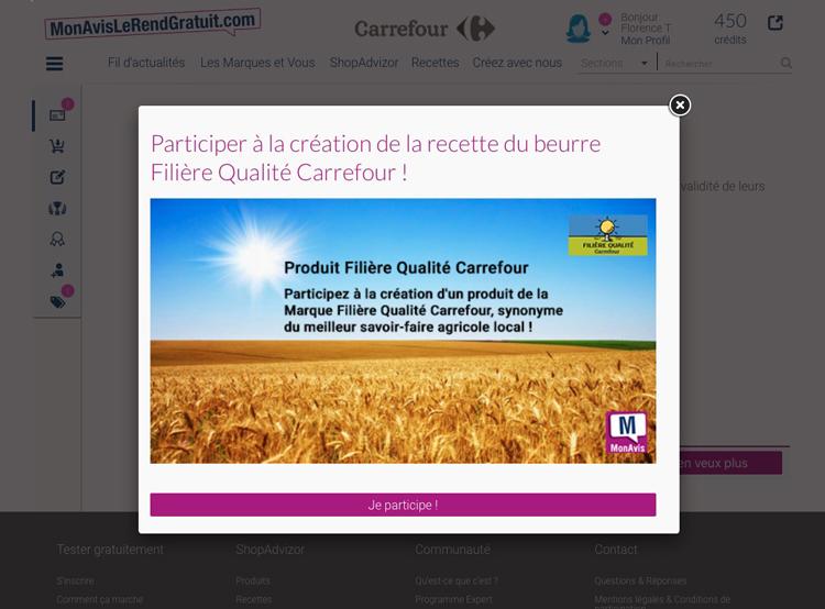 Carrefour beurre FQC principale