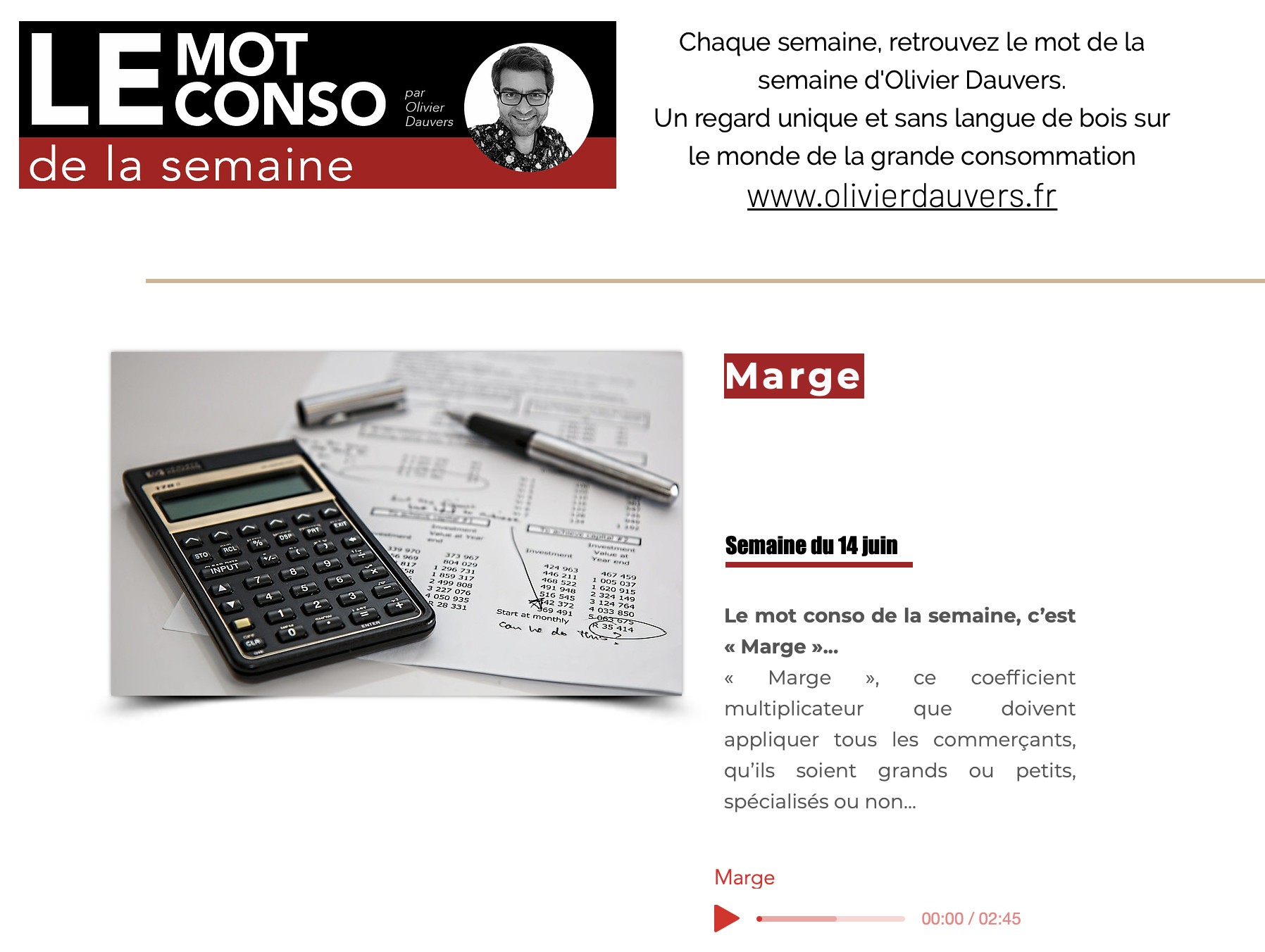 LE MOT CONSO MARGE