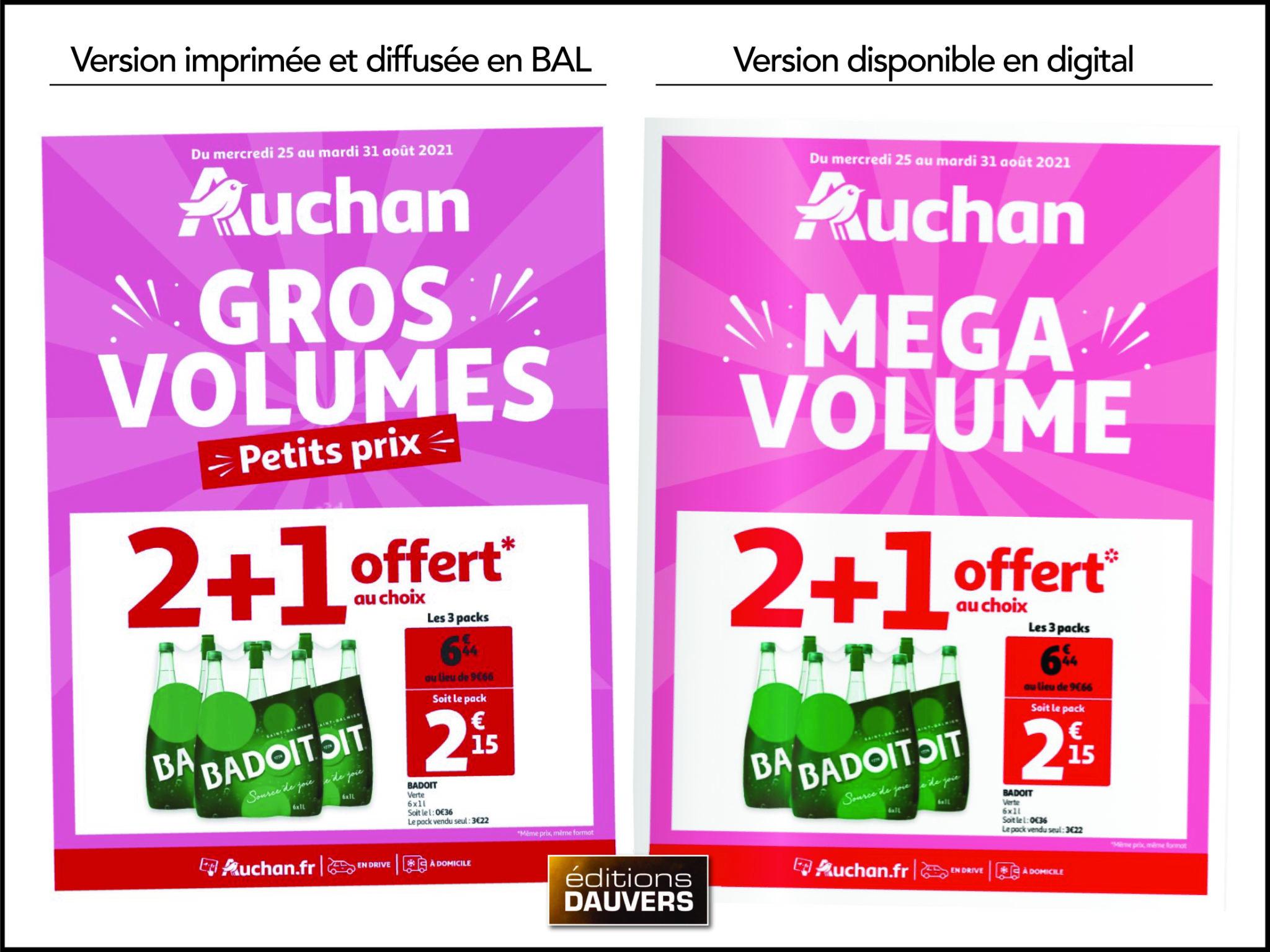 Gros volume Auchan